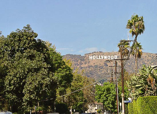 World famous Hollywood Sign on Beachwood